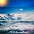 Set of sky banners — Stock Photo