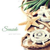 Summer holiday setting with seastar — Stock Photo