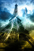 Thunderstorm in Paris — 图库照片