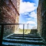 Narrow european street with staircase — Stock Photo #45199819
