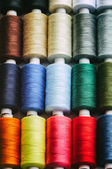 Spools of color thread — Stock Photo