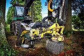 Arbeitung harvester — Stockfoto