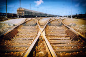 Rusty railway junction — Stock Photo