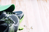 Pair of running shoes — Stock Photo