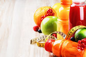 Fruits juices in healthy nutrition — Stock Photo