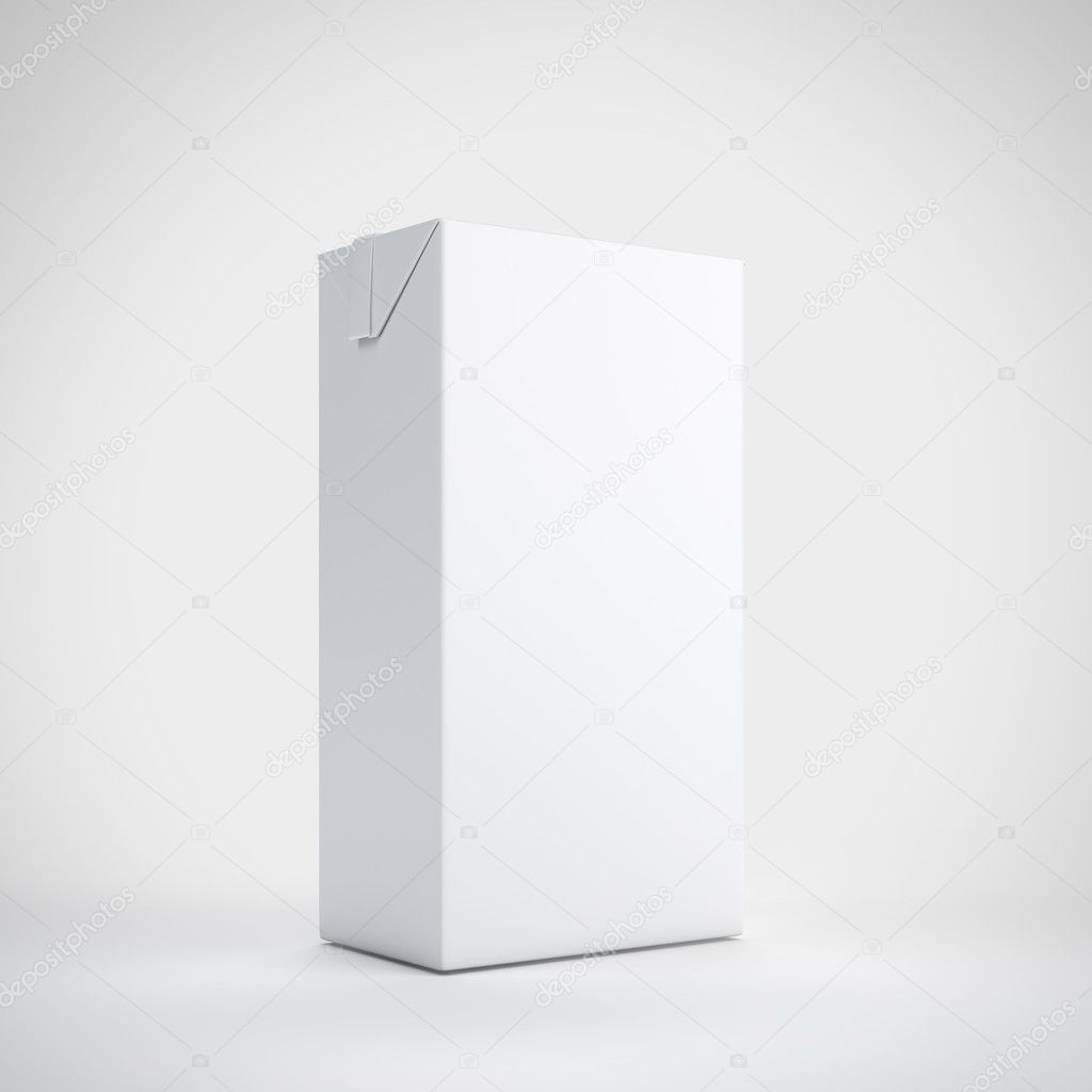 Medium white milk carton package  Stock Photo #13137505