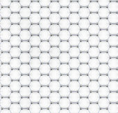 Tiled graphene sheet model — Stock Photo