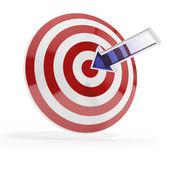 Succes doel met blauwe pijl — Stockfoto