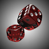 Two shiny red dices — Stock Photo