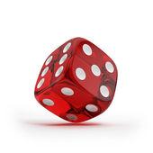 Shiny red dice — Stock Photo