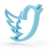New Social network blue bird symbol — Stock Photo