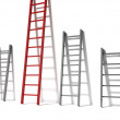 Three ladders, concept success — Stock Photo