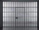 Gevangenis interieur met dramatische licht — Stockfoto