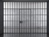 监狱内部与戏剧性光 — 图库照片