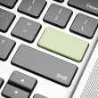 Green empty keyboard button — Stock Photo