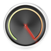 Black Speedometer — Stock Photo