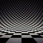 svarta och vita checker — Stockfoto