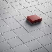 One different red cube — Stock Photo
