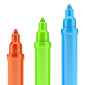 Multicolored Felt-Tip Pens — Stock Photo
