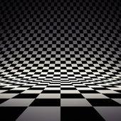 Black and white checker — Stock Photo