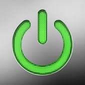 Green power button — Stock Photo