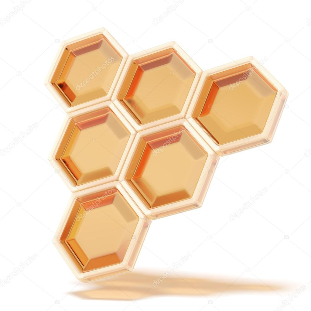 Honeycomb close up isolated on a white background — Stock Photo #18896059