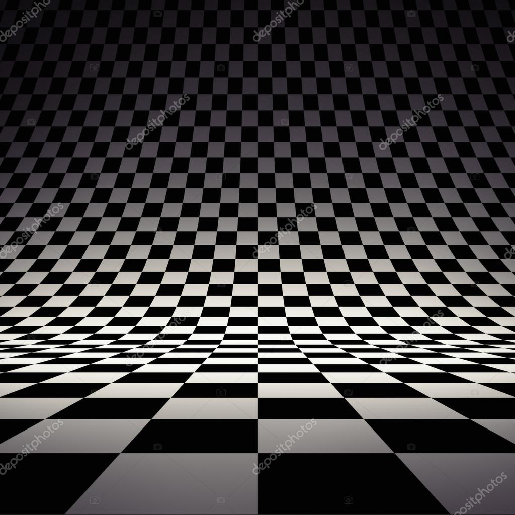 Black and white checker. 3d rendered image — Stock Photo #18896097
