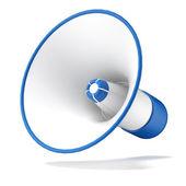 Megafon niebieski — Zdjęcie stockowe