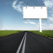 The billboard and road outdoor — Stock Photo