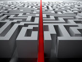 Straight line through the maze — Stock Photo
