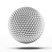 Ball of metal spheres — Stock Photo