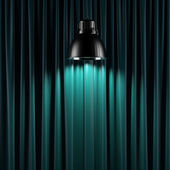 Brightly lit curtains — Stock Photo