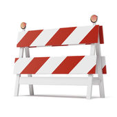 Roadblock isolated on white background — Stock Photo