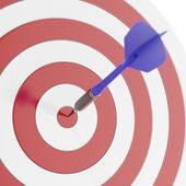 Darts arrows in the target — Foto Stock