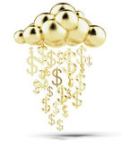 Raining gold dollars — Stock Photo