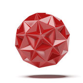 Abstract red geosphere — Stock Photo