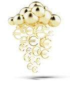Raining gold euros — Stock Photo