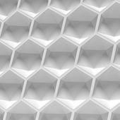 White hexagon seamless — Fotografia Stock