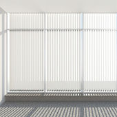 Window vertical fabric blinds — Stock Photo
