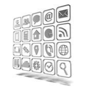 Diverse icone in metallo — Foto Stock