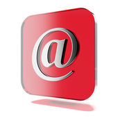 Red mail icon — Stock Photo