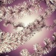 Red christmas tinsel — Stock Photo