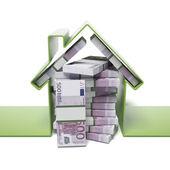 House with euros — Stock Photo