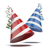 Two party hats — Stock Photo