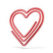 Heart paper-clip — Stock Photo