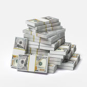 Big pile of dollars — Stock Photo