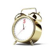 Gold alarm clock with dollar sign — Foto de Stock