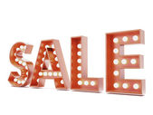 Red sale advertisment sign — Stock Photo