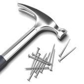 Hammer and nail — Stock Photo