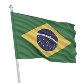Brazil (Brasil) flag — Stock Photo